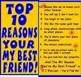 ... from friendship glitter phrases top 10 reasons your my best friend
