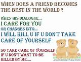 sweet friendship funny quotes when does a friend becomes - Funs & Mix