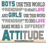 "Boys use the world ""FRIENDSHIP"" to start love…! And"