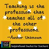 Quotes for Teachers: Teaching is the profession… | A to Z Teacher ...