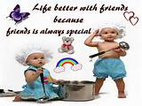 Life Better With Friends | Cute Friendship Quote Wallpaper For Desktop ...