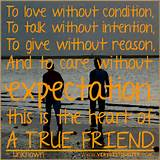 Beautiful True Friends Picture quotes - love care without expectation ...