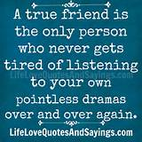 True Friend The Only Person Love Quotes And Sayings - funny quotes and ...