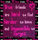 Myspace Graphics > Friendship Quotes > true friends are hard to find ...
