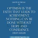 Motivational Quote Of The Day: Optimism is the faith - Inspirational ...