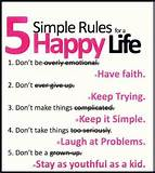 Inspirational Quotes 5 simple rules Inspirational Quotes Of Life