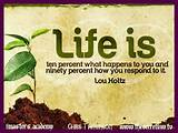 Life Is Ten Percent Inspirational Quote by Lou Holtz Facebook Timeline