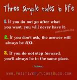 Three Simple Rules In Life : Quotes | Positive Outlooks Blog