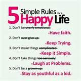 Simple Rules for a Happy Life | iHateQuotes