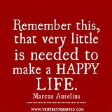 happy life quotes - very little
