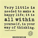 Very little is needed to make a happy life quotes