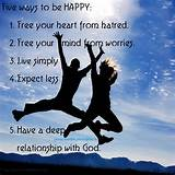 ways-to-be-HAPPY | HealthyThoughts.in - Inspirational Thoughts ...
