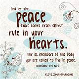 Let the peace rule your heart! | Inspiration for Daily Living