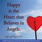 Happy is the Heart that Believes in Angels | Daily Inspirational Quot ...