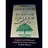 Daily Inspiration for the Purpose driven Life: Rick Warren: Books