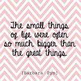 Daily Inspirational Quote // the small things