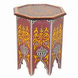 Moroccan Painted Tables Furniture Pictures