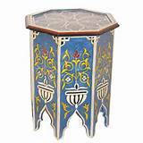 Moroccan Painted Tables Furniture Pic #25