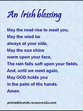 Printable motivational poem Irish Blessing – 5 » Printable Cards ...
