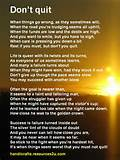 Free printable Don't Quit poem card poster » Free Bookmarks, Cards ...