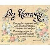 Motivational Poem (In Loving Memory) Art Poster Print 16