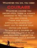 Motivational Wallpaper on Courage : Whatever you do, you need courage ...