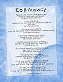 Mother Teresa Poem : Do It Anyway - Inspirational Quotes about Life ...