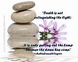 Death is not extinguishing the light; it is only putting out the ...