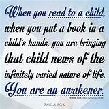Inspirational Quote on Reading to a child - Inspirational Quotes about ...