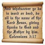 motivational verses from the bible on giving thanks to God Colossians ...
