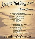 Accept nothing less, Than Jesus ! | O.C Poetry