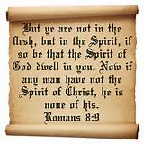 inspirational christian quotes on having the spirit of Christ Romans 8 ...
