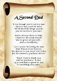 Inspirational Poem A Second DAD Step Father Gift Poster Print A4 ...