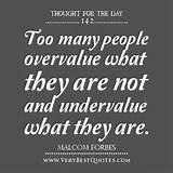 Thought For The Day: overvalue and undervalue - Inspirational Quotes ...