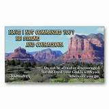 Christian Business Cards - Joshua1:9 Inspirational Cards