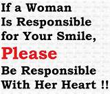 Inspirational Quotes woman is responsible for your smile - Online Free ...