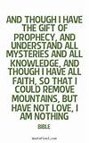 Quotes about love - And though i have the gift of prophecy, and ...