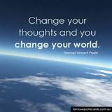 Famous Quote Cards   quote by Norman Vincent Peale - Change your ...