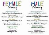 Female and male dictionary - Quote Searching