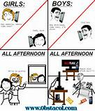 Boys vs Girls | Funny Pictures, Funny Images, Funny Quotes