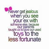 ... Jealous When You See Your Ex - Funny Love Quotes - Entertainment world